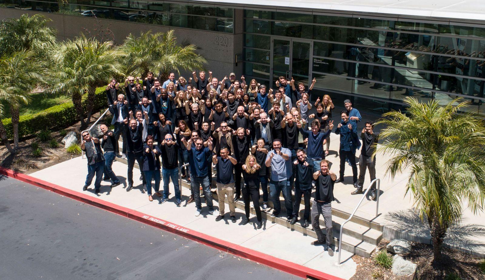 Team in front of Designworks Studio Los Angeles