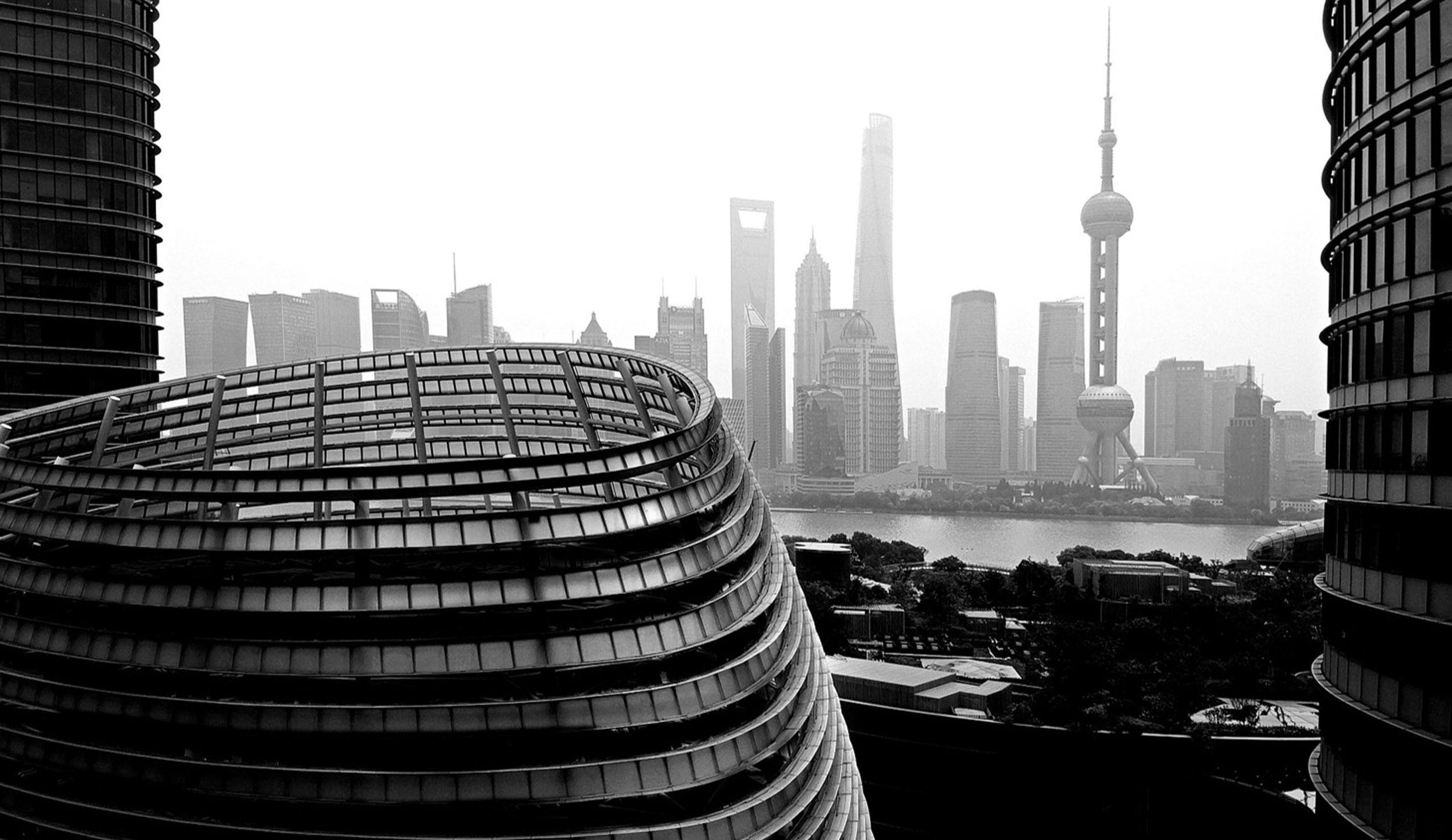 designworks studio in front of shanghai skyline